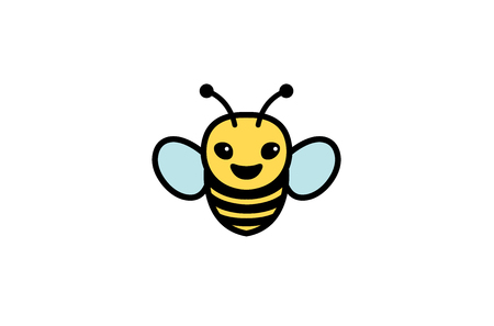 Creative Cute Little Bee Logo Design Illustration Stock fotó - 107678185