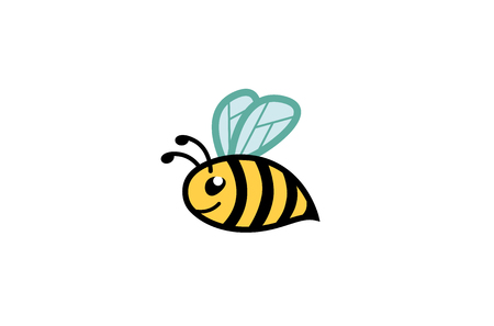 Creative Cute Fat Bee Logo Design Illustration