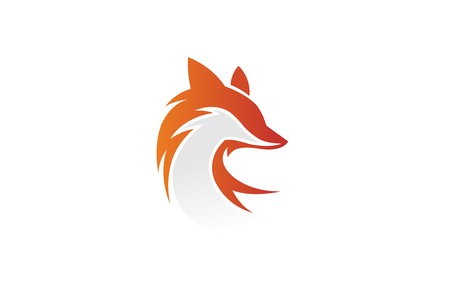 Creative Fox Head Logo Design Illustration Stock Illustratie