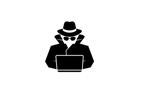 Detective Logo Design Illustration Фото со стока - 107678266