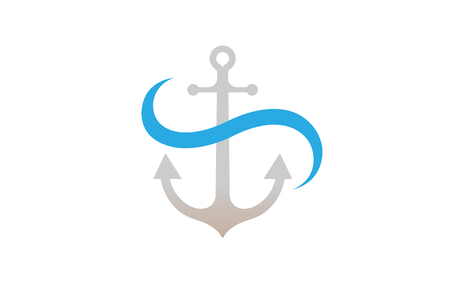 Creative Anchor Logo Design Illustration Illustration