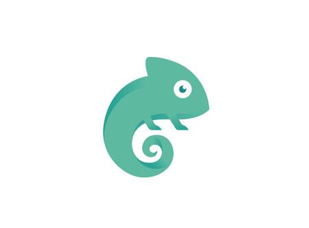 Creative Small Chameleon Logo Illusztráció