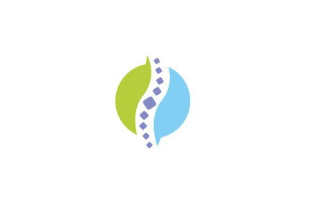 Creative Chiropractic Cirlce Spine Logo Illustration