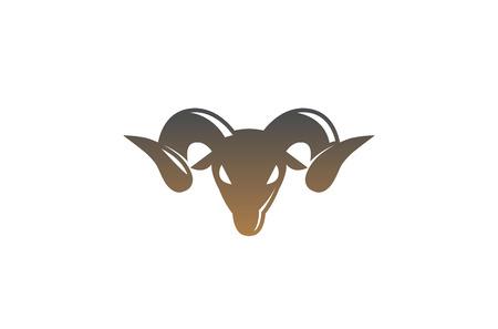 Furious Brown Ram Horn Logo