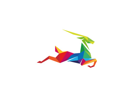Creative Colorful Gazelle Logo