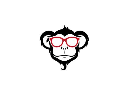 Creative Monkey Geek Logo Illustration Illustration