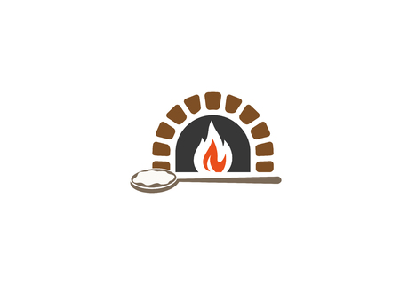 Creative Traditional Oven Logo Stock Illustratie