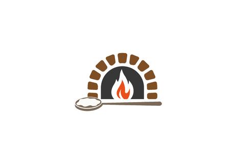 Kreatives traditionelles Ofenlogo