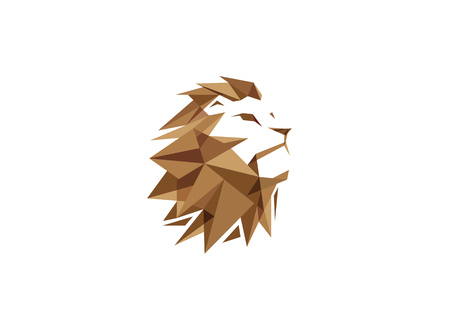 Creative Lion Head Logo Archivio Fotografico - 121529989