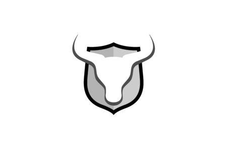 Creative Bull Shield Design Symbol Vector Illustration Illustration