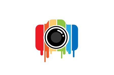 Creative Colorful Camera Design Symbol Vector Illustration