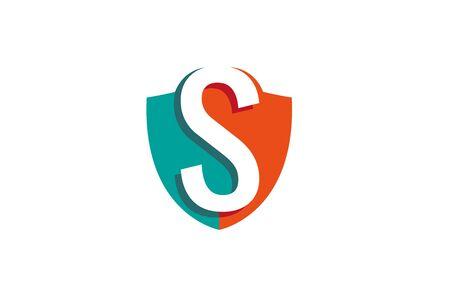 Creative Shield S Letter  Design Vector Symbol Illustration Ilustrace