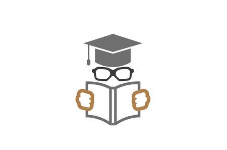 Creative Student Open Book  Design Vector Symbol Illustration