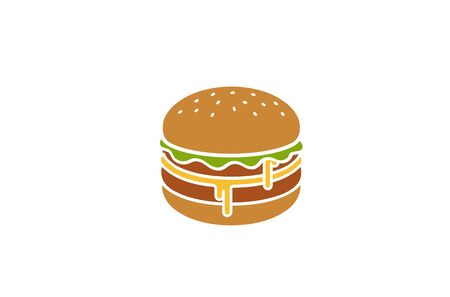 Creative Hamburger  Design Symbol Vector Illustration