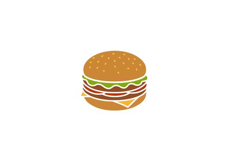 Creative Burger Design Symbol Vector Illustration