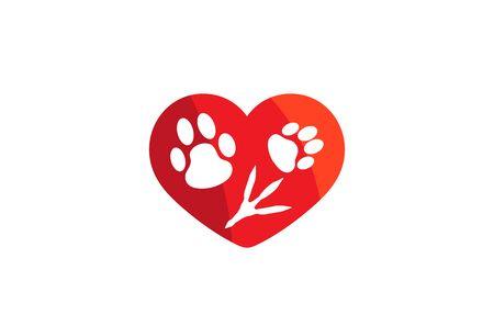 Creative Pet Love Design Vector Symbol Illustration