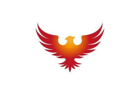 Creative Pheonix Design Vector Symbol Illustration