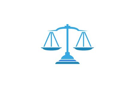 Creative Abstract Blue Scales Justice Law  Design Vector Symbol Illustration Illustration