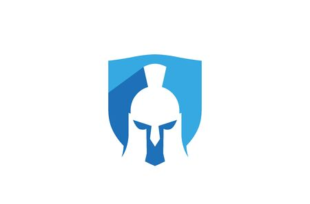 Creative Abstract Spartan Helmet Shield    Design Vector Symbol Illustration
