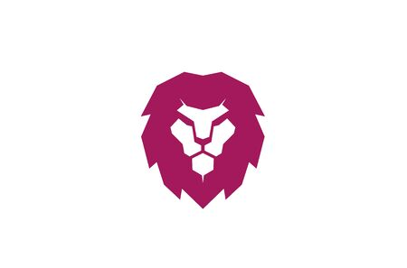 Creative Red Lion Head Logo Symbol Vector Illustration
