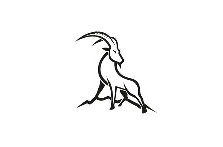 Creative Gazelle Hill Logo 向量圖像