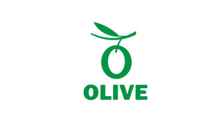 Creative Olive Leaves alphabet Symbol Vector Vetores
