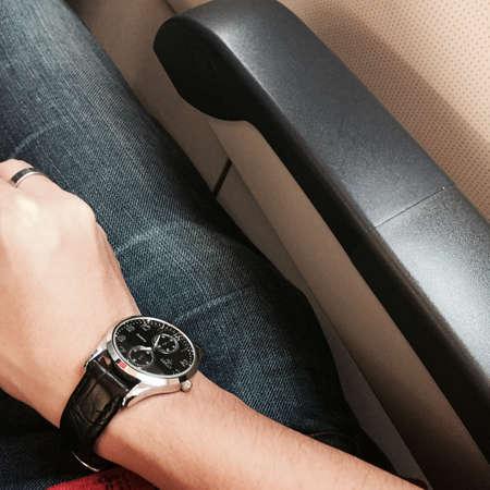 jeans: On a jet plane.