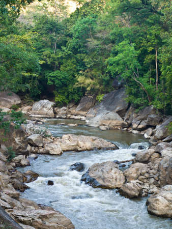 Stream in Ob Luang National Park, Chiang Mai Thailand photo
