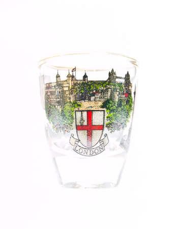 A packe shot glass of London landmark Stock Photo