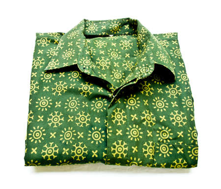 Green batik shirt from Yogyakarta, Indonesia photo