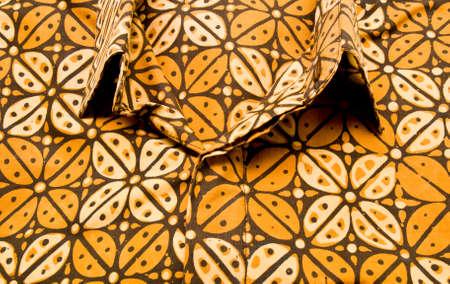 Coffee beans brown batik shirt from Yogyakarta, Indonesia photo