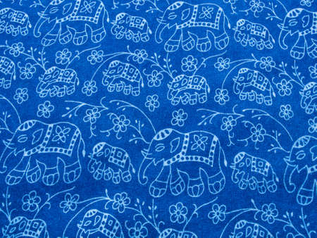 Blue cotton fabric , Morhom, from the North of  Thailand