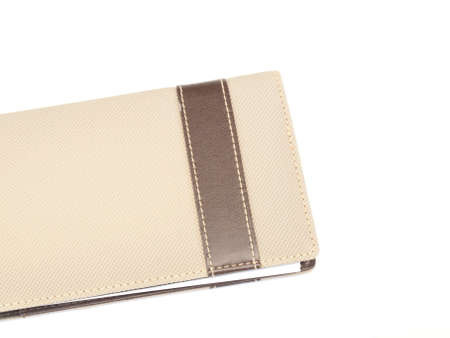Light brown notebook cover isolated on white background Stock Photo - 17529434
