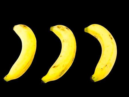 Ripe banana isolated on white background Stock Photo - 17529380