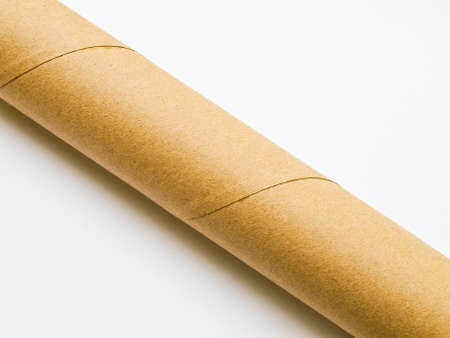 Light brown roll paper isolated on white background Stock Photo - 17529465