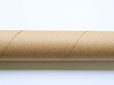 Light brown roll paper isolated on white background Stock Photo - 17529470
