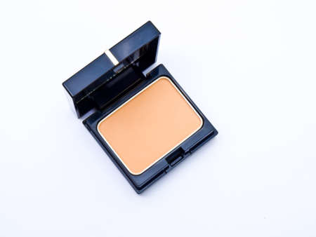 Face powder in a black box isolated in a  white background photo