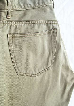 Back pocket on khaki jean pants
