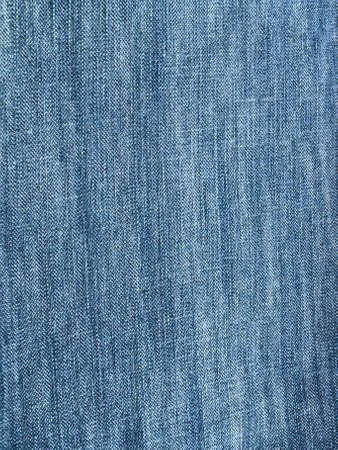 Striped textured used blue jeans denim fabric grunge background Stock Photo