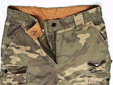 front view of camouflage pants