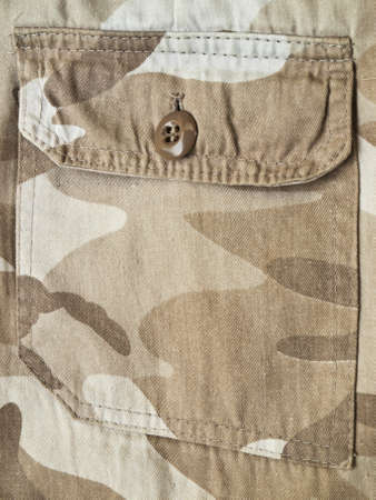 Pocket on a camouflage pants photo