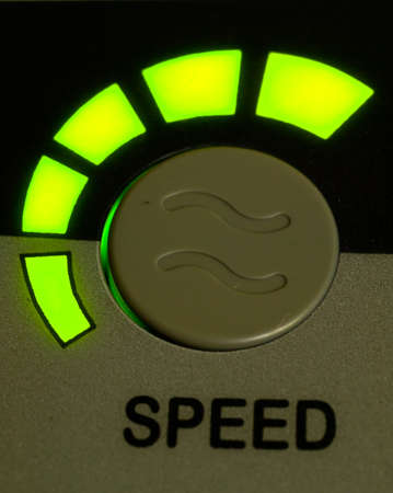 Green light speed button as background