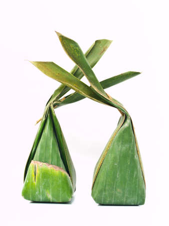Thai dessert packages made from banana leaves Stock Photo - 17617535