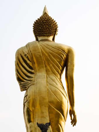 Buddha image in the interior of wat Phra that kao noi, Nan Thailand Stock Photo - 17648850