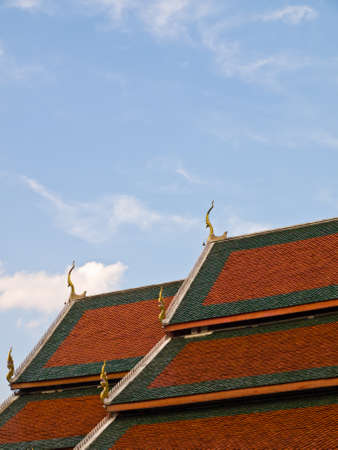 temple roof of Wat Phra That Hariphunchai , Lamphun Province, of Thailand Stock Photo - 17650895