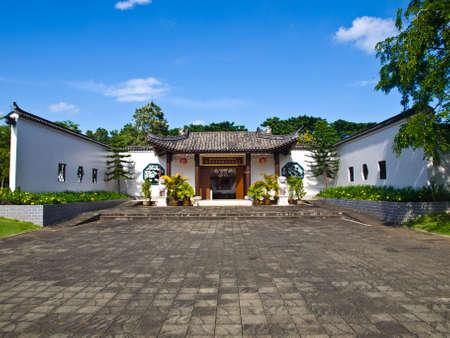 The entrance plaza of Sirindhon Chinese cultural center, Mae Fah Luang University, Chiang Rai, Thailand