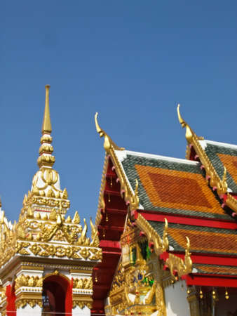 Decoration of roof and bell tower of Buddhist vihara in Thailand Stock Photo - 17650567