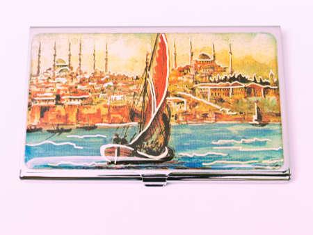 Peinture DIstanbul Le Bosphore La Mosque Et Navire Sur