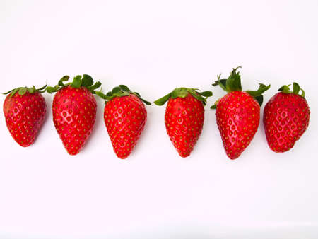 Fresh strawberry Isolated on white background Stock Photo