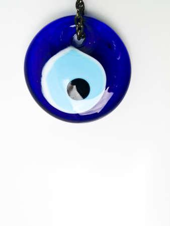 Turkish evil eye isolated on white background